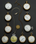 Timepieces:Pocket (post 1900), A Lot Of Ten 18 Size Pocket Watches. ...