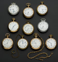 Timepieces:Pocket (post 1900), A Lot Of Ten Railroad Grade Pocket Watches. ... (Total: 10 Items)