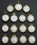 Timepieces:Pocket (post 1900), A Lot Of Fifteen Railroad Grade Pocket Watches. ...