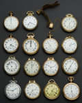 Timepieces:Pocket (post 1900), A Lot Of Fifteen 16 Size Pocket Watches All Railway Grade. ...(Total: 15 Items)