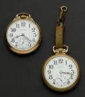 Timepieces:Pocket (post 1900), Illinois 161A Bunn Special and 23 Jewel Motor Barrel 60 BunnSpecial. ...