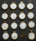 Timepieces:Pocket (post 1900), A Lot Of Fifteen Pocket Watches One 23 Jewel Vanguard. ... (Total:15 Items)