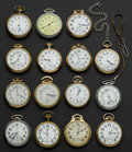 Timepieces:Pocket (post 1900), A Lot Of Fifteen Railroad Grade Pocket Watches. ... (Total: 15Items)