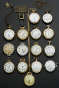 Timepieces:Pocket (post 1900), A Lot Of Fifteen Pocket Watches. ... (Total: 15 Items)