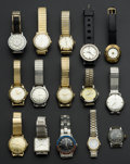 Timepieces:Wristwatch, A Lot Of Fifteen Vintage Wristwatches. ... (Total: 15 Items)