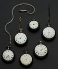 Timepieces:Pocket (pre 1900) , Six Fusee's, 4 Verge, 2 Levers. ... (Total: 6 Items)