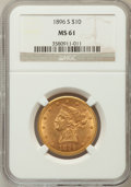 Liberty Eagles, 1896-S $10 MS61 NGC....
