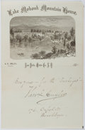 Autographs:Authors, Theodore L. Cuyler (1822-1909, American Presbyterian Minister).Signed Note. Very good....