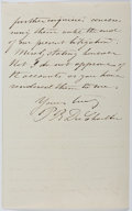 Autographs:Non-American, Paul Belloni du Chaillu (1831-1903, French-American Explorer).Autograph Letter Signed. 2 pages. Very good....