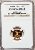 Modern Bullion Coins: , 1995-W G$5 Tenth-Ounce Gold Eagle PR69 Ultra Cameo NGC. NGC Census:(1874/580). PCGS Population (2905/134). Numismedia Wsl...