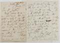 Autographs:Authors, Sydney Thompson Dobell (1824-1874, British Poet and Critic).Autograph Letter Signed. 10 pages. Very good....