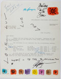 Autographs:Artists, Ted DeGrazia (1909-1982, American Artist). Typed Letter Signed. Very good....