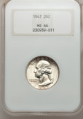 Washington Quarters: , 1947 25C MS66 NGC. NGC Census: (593/188). PCGS Population (607/57).Mintage: 22,556,000. Numismedia Wsl. Price for problem ...