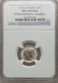 Barber Dimes: , 1916-S 10C -- Environmental Damage -- NGC Details. UNC. NGC Census:(2/232). PCGS Population (2/270). Mintage: 5,820,000. N...