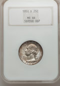 Washington Quarters: , 1950-D 25C MS66 NGC. NGC Census: (477/190). PCGS Population(467/37). Mintage: 21,075,600. Numismedia Wsl. Price for proble...