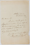 Autographs:Authors, Theodore Hook (1788-1841, British Writer and Humorist). Autograph Letter Signed. Very good....