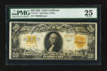 Large Size:Gold Certificates, Fr. 1187* $20 1922 Gold Certificate Star PMG Very Fine 25.. ...