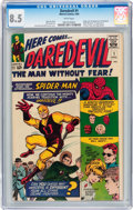 Silver Age (1956-1969):Superhero, Daredevil #1 (Marvel, 1964) CGC VF+ 8.5 White pages....