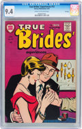 Golden Age (1938-1955):Romance, True Brides' Experiences #12 (Harvey, 1955) CGC NM 9.4 Cream to off-white pages....