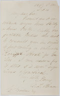 Autographs:Authors, Charles Loring Brace (1826-1890, Founder of Children's Aid Society). Autograph Letter Signed. Very good....