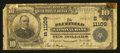 National Bank Notes:West Virginia, Bluefield, WV - $10 1902 Plain Back Fr. 632 The Bluefield NB Ch. #(S)11109. ...