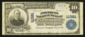 National Bank Notes:Virginia, Portsmouth, VA - $10 1902 Plain Back Fr. 632 American NB Ch. #11381. ...
