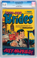 Golden Age (1938-1955):Romance, Teen-Age Brides #5 File Copy (Harvey, 1954) CGC VF/NM 9.0 Cream to off-white pages....