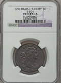 Large Cents, 1796 1C LIHERTY -- Burnished -- NGC Details. VF. S-104, B-45,R.3....