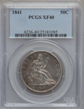 Seated Half Dollars: , 1841 50C XF40 PCGS PCGS Population (7/62). NGC Census: (0/54).Mintage: 310,000. Numismedia Wsl. Price for problem free NGC...