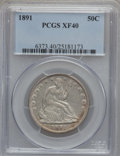 Seated Half Dollars: , 1891 50C XF40 PCGS PCGS Population (10/193). NGC Census: (0/141).Mintage: 200,000. Numismedia Wsl. Price for problem free ...