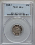 Seated Dimes: , 1842-O 10C XF40 PCGS PCGS Population (6/51). NGC Census: (2/47).Mintage: 2,020,000. Numismedia Wsl. Price for problem free...