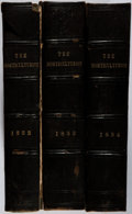 Books:Natural History Books & Prints, A. J. Downing [editor]. Group of Three Bound Volumes of The Horticulturist. Various, 1852-1854. First edition, first... (Total: 3 Items)