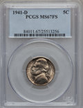 Jefferson Nickels: , 1941-D 5C MS67 Full Steps PCGS. PCGS Population (142/1). NGCCensus: (34/0). Numismedia Wsl. Price for problem free NGC/PC...