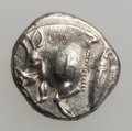 Ancients:Greek, Ancients: Cyzicus. Ca. 475-450 BC. AR trihemiobol (10mm, 1.22 gm,3h)....