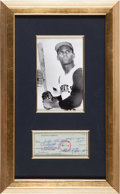 Autographs:Checks, 1972 Roberto Clemente Signed Check....