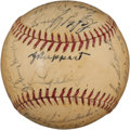 Autographs:Baseballs, 1938 New York Yankees Team Signed Baseball with Ruppert....