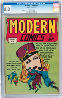 Modern Comics #94 (Quality, 1950) CGC VF 8.0 Off-white pages