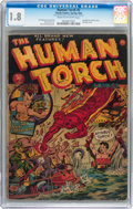 Golden Age (1938-1955):Superhero, The Human Torch #7 (Timely, 1942) CGC GD- 1.8 Cream to off-whitepages....