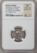 Ancients:Roman Imperial, Ancients: Diocletian (AD 284-305). AR argenteus (20mm, 2.66 gm,12h). ...
