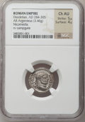 Ancients:Roman Imperial, Ancients: Diocletian (AD 284-305). AR argenteus (19mm, 3.46 gm, 12h). ...