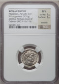 Ancients:Roman Imperial, Ancients: Galerius (AD 305-313). AR argenteus (19mm, 3.31 gm, 12h)....