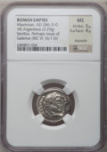Ancients:Roman Imperial, Ancients: Galerius (AD 305-313). AR argenteus (19mm, 3.29 gm, 12h)....