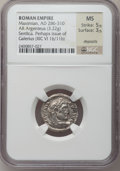 Ancients:Roman Imperial, Ancients: Galerius (AD 305-313). AR argenteus (19mm, 3.22 gm, 12h). ...