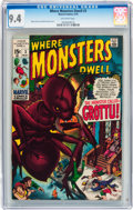 Bronze Age (1970-1979):Horror, Where Monsters Dwell #3 (Marvel, 1970) CGC NM 9.4 Off-whitepages....