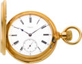 Timepieces:Pocket (pre 1900) , Henry Capt Unusual Gold Ten Minute Repeater, circa 1878. ...