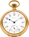 Timepieces:Pocket (post 1900), Patek Philippe & Co. Fine Gold Minute Repeater for Tiffany& Co., circa 1902. ...