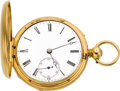 Timepieces:Pocket (pre 1900) , Frederick Highfield London Gold Half Quarter Hour Repeating Duplex,circa 1850. ...
