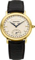 Timepieces:Wristwatch, Audemars Piguet Gent's 18k Gold Millenary Automatic. ...
