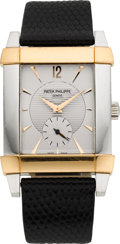 Timepieces:Wristwatch, Patek Philippe Ref. 5111PR-001 Platinum & Rose Gold Gondolo. ...