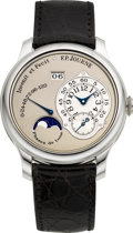 Timepieces:Wristwatch, F.P. Journe Octa Lune Very Fine Platinum Chronometer Wristwatch With 120 Hour Power Reserve, Date & Moon Phases. ...